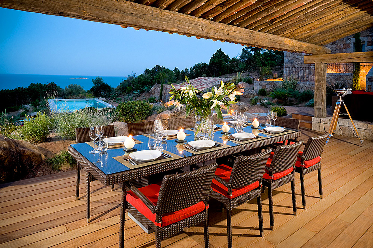 Awesome Alfresco Dining With Views Luxury Villa Corsica