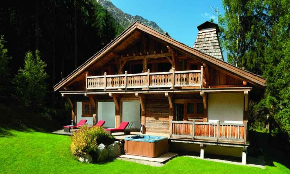 alps luxury ski chalet with pool to rent near chamonix