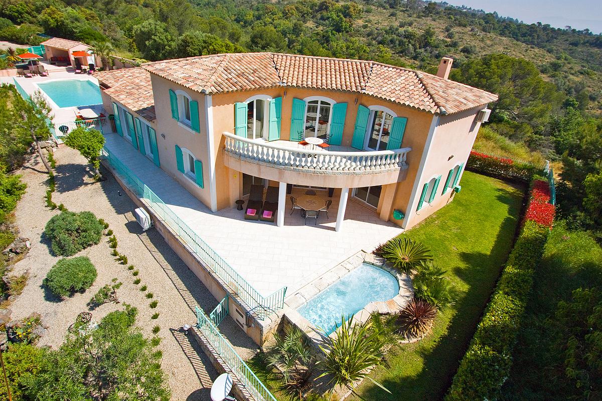 ... The Pool Biot Vacation Rental. Villa Facade   Aerial View ...