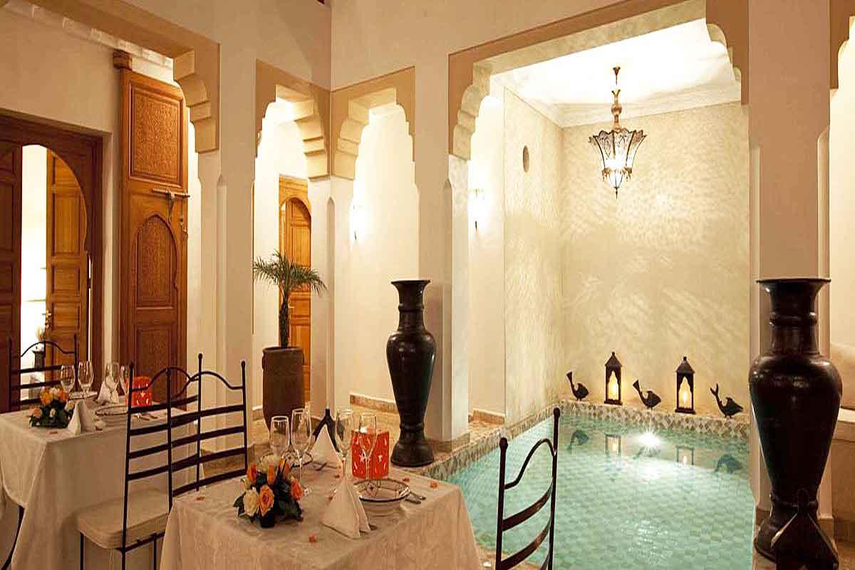 Couryard Pool Villa Rental Marrakech