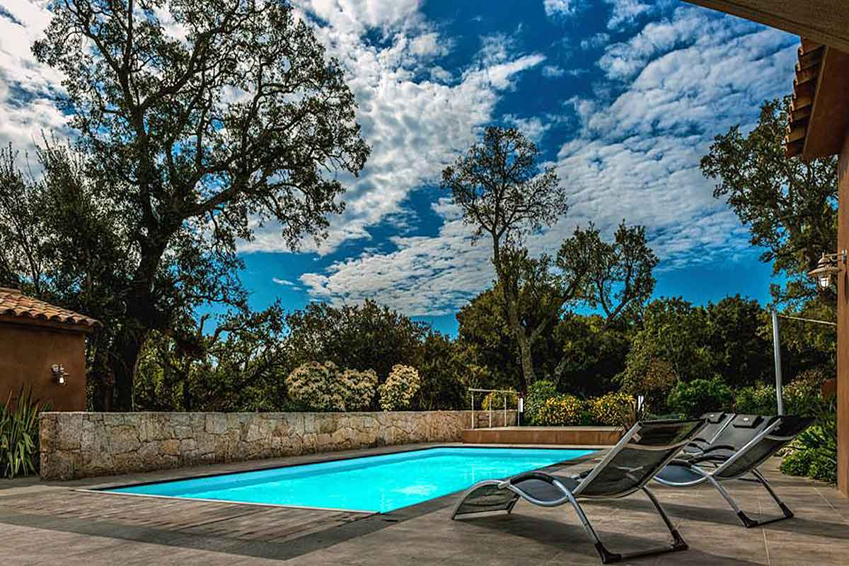 Amazing Large Pool Terrace With Loungers And Verdant Backdrop Holiday Rental In  Corsica With Pool. The Luscious Garden With Indigenous Planting South ...