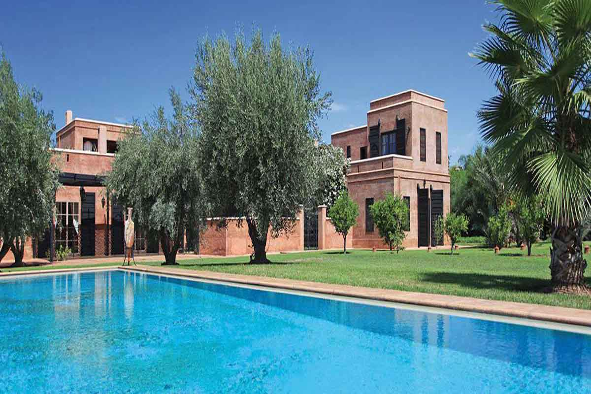 Pool And Villa Marrakesh Luxury Villa Rental ...