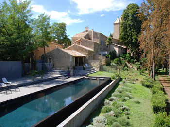 Large group rental Beziers pool