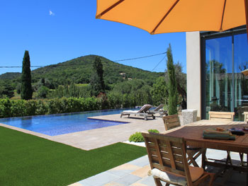 Pool and garden with lovely views