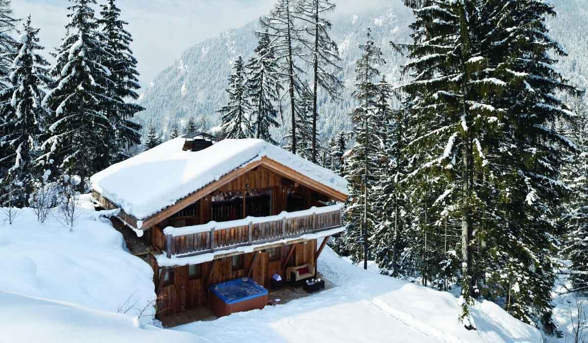 Chalet facade Ski Chalet Rental Chamonix Alps