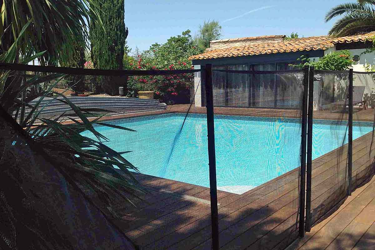 There Is A Rolling Cover For The Heated Pool As Well As A Portable Fence ...