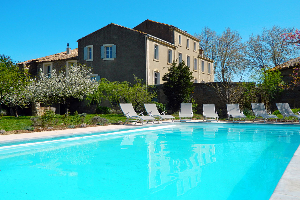 Luxury Languedoc Rental for 15 with pool