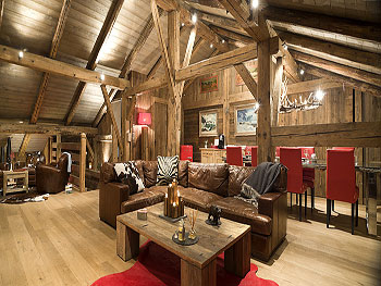 French alps luxury ski chalet with pool to rent near chamonix for Alpine decoration
