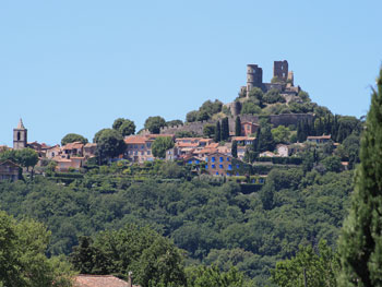 View of Grimaud from the villa