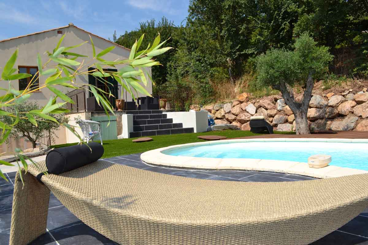 Rental Villa Beziers Family pool