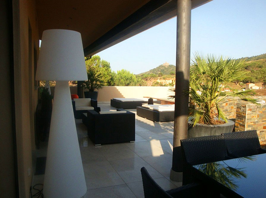 Covered Terrace With Quality Outside Furniture Collioure Family Holiday Villa