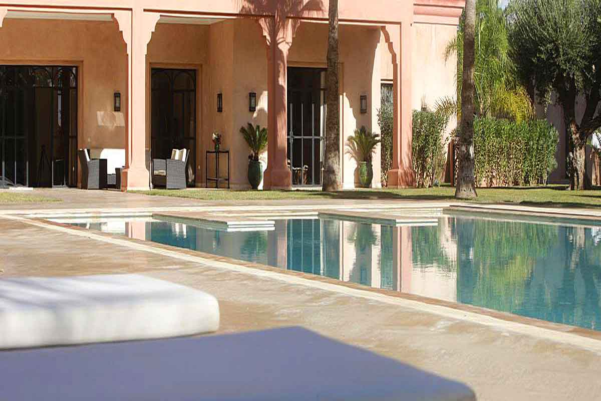 Villa From Pool Terrace Rental Villa Marrakech Morocco