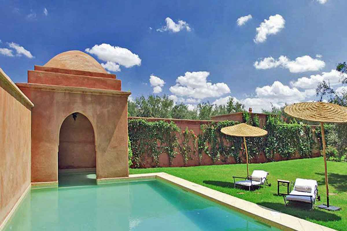 Loungers By The Pool Holiday Villa Marrakech