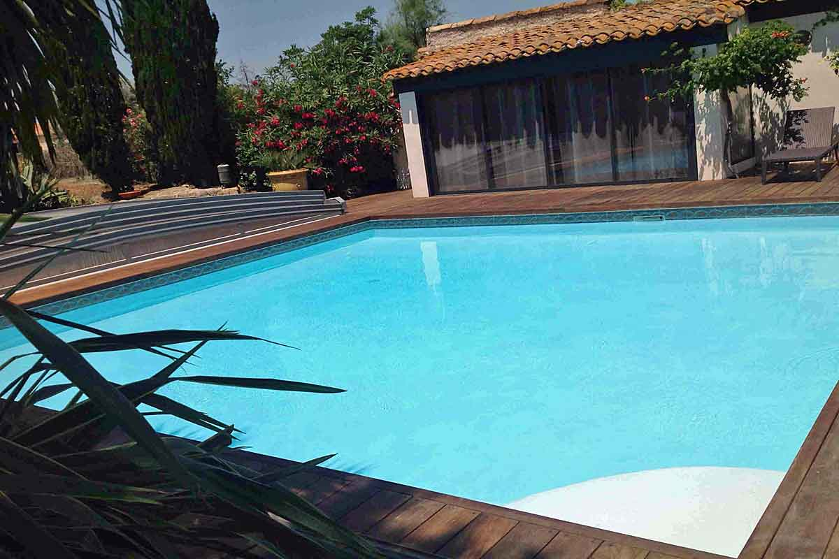 Wooden Decking Around The Heated Pool ...