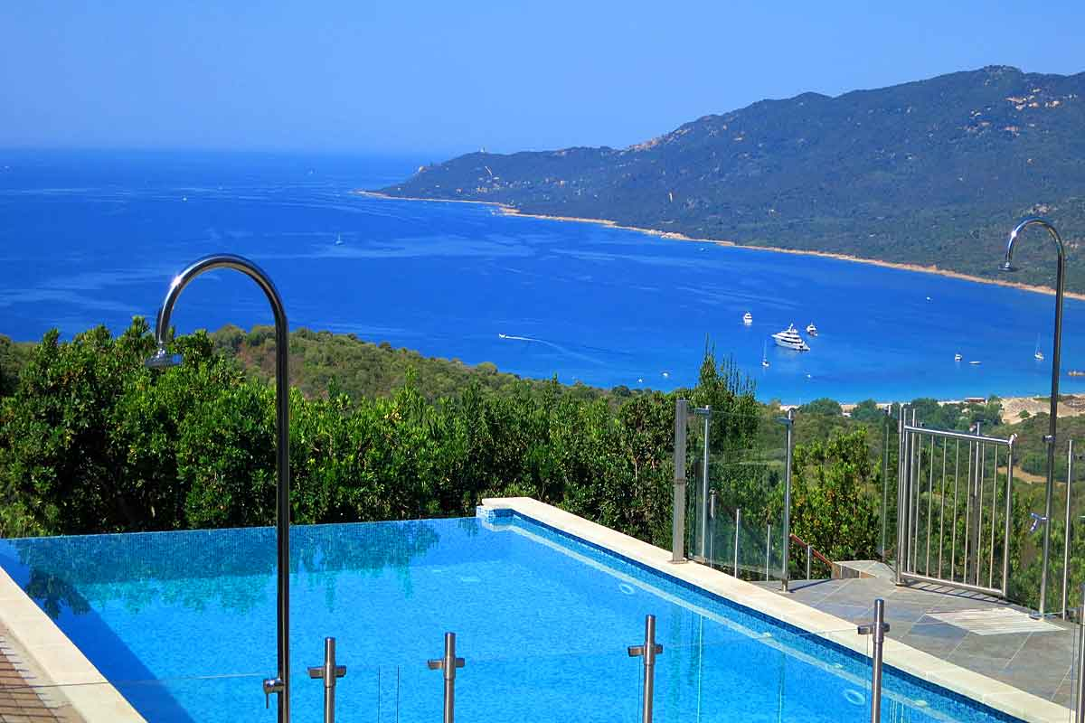 Stunning Views From The Infinity Pool Corsica Holiday Villa