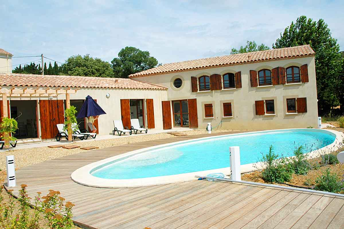 Recently Built Spacious Villa With Solar Heated Pool And Private Tennis  Court Minervois Villa Rental ...